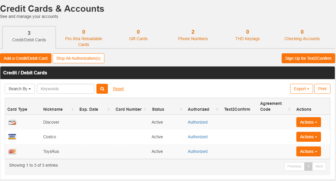 Home Depot Add Tracking Number To Account