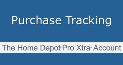 Purchase tracking at Home Depot Pro Xtra
