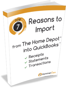 7 reasons why to import receipts and statements from home depot into quickbooks