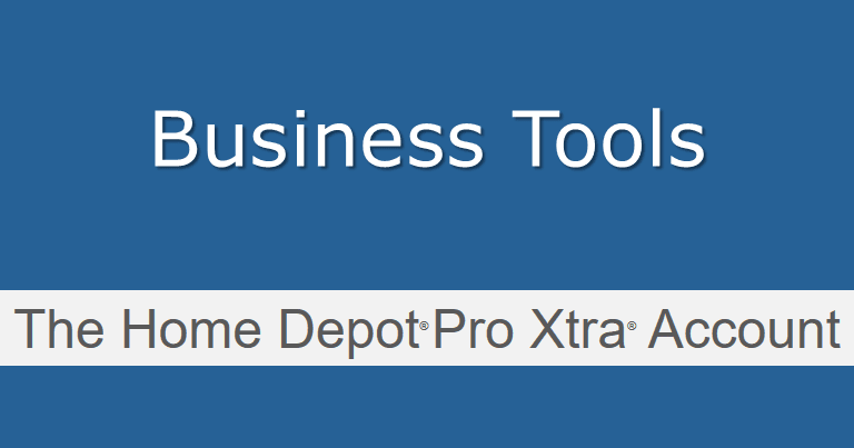 Business Tools Home Depot Pro Xtra