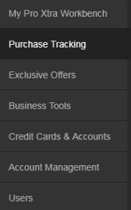 Purchase tracking on your Home Depot Pro Xtra Loyalty account