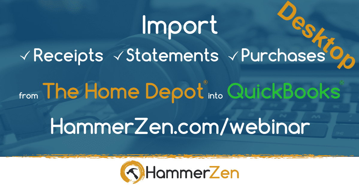 HammerZen webinar for QuickBooks Pro, Premier Enterprise