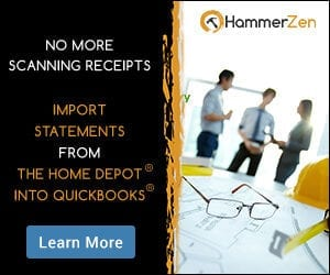 Home Depot Receipts and QuickBooks 300 250