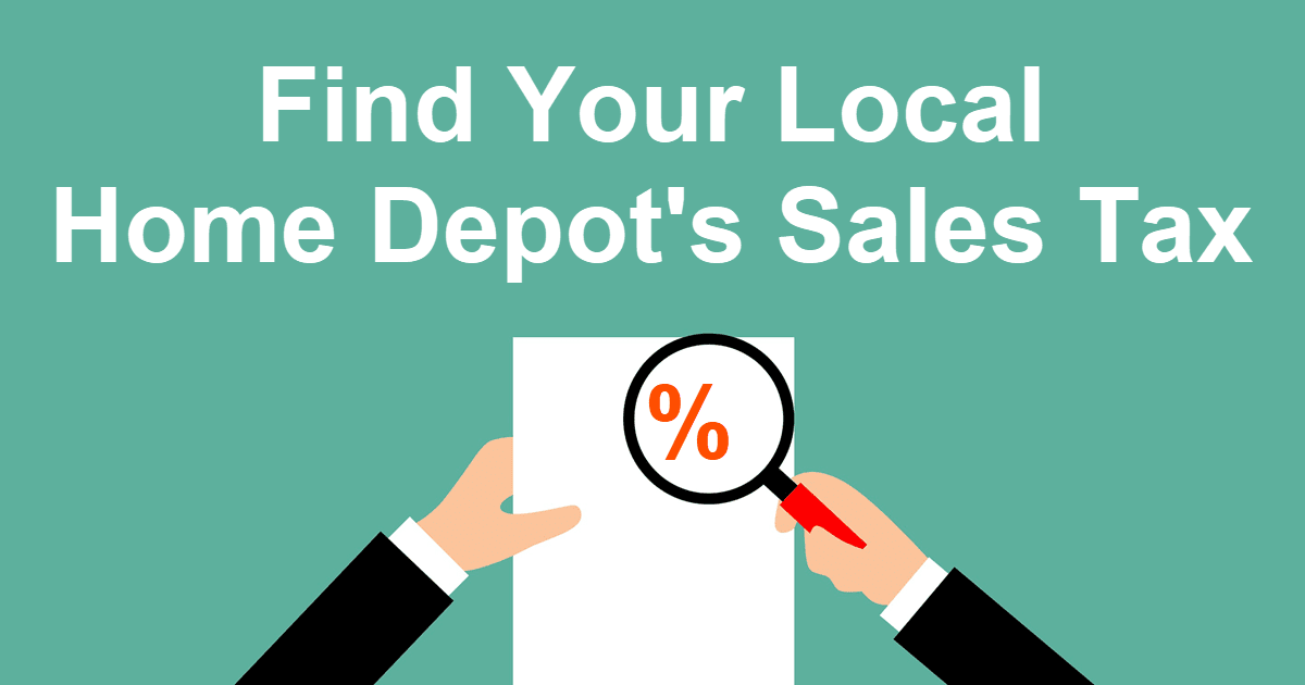 How to find your Local Home Depot Sales Tax charge at HammerZen