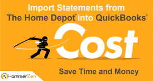 Import statements to QuickBooks from Home Depot